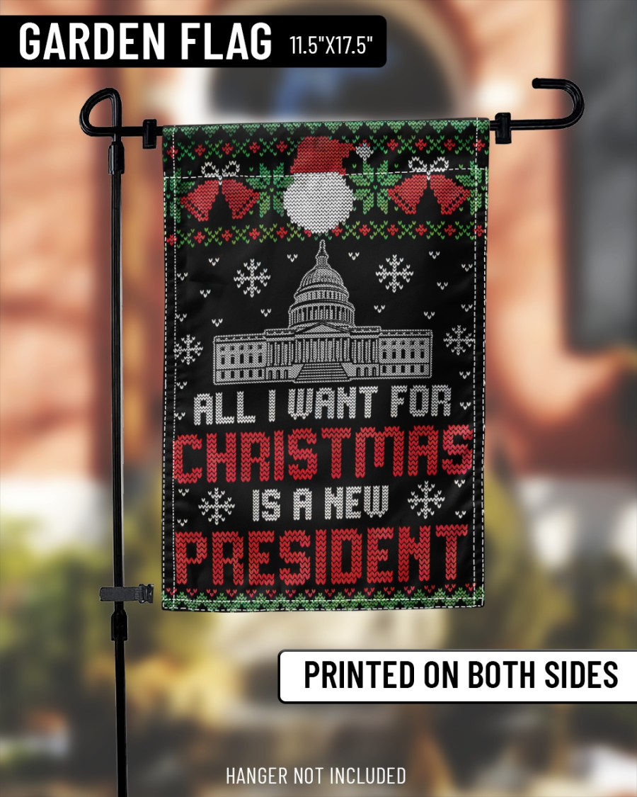 All I want for christmas is a new president flag 2