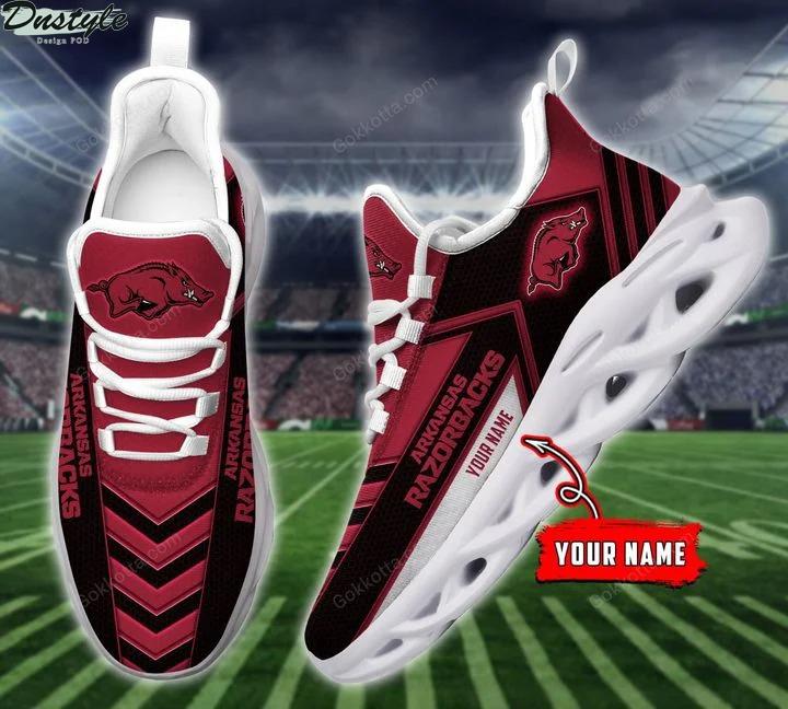 Arkansas razorbacks NCAA personalized max soul shoes