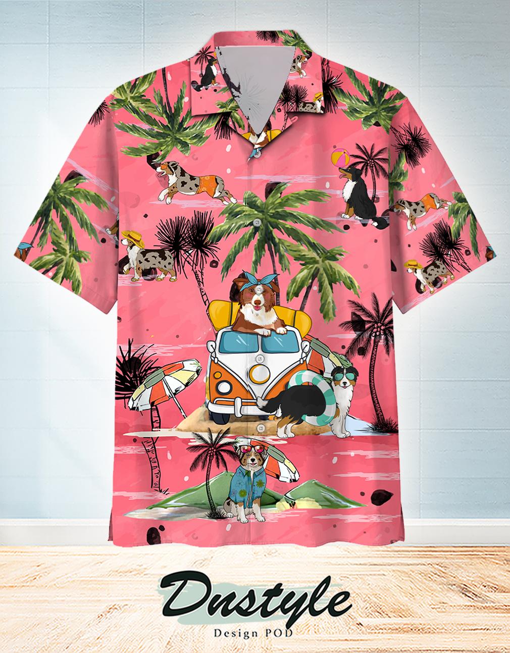 Australian Shepherd Summer Beach Hawaiian Shirt