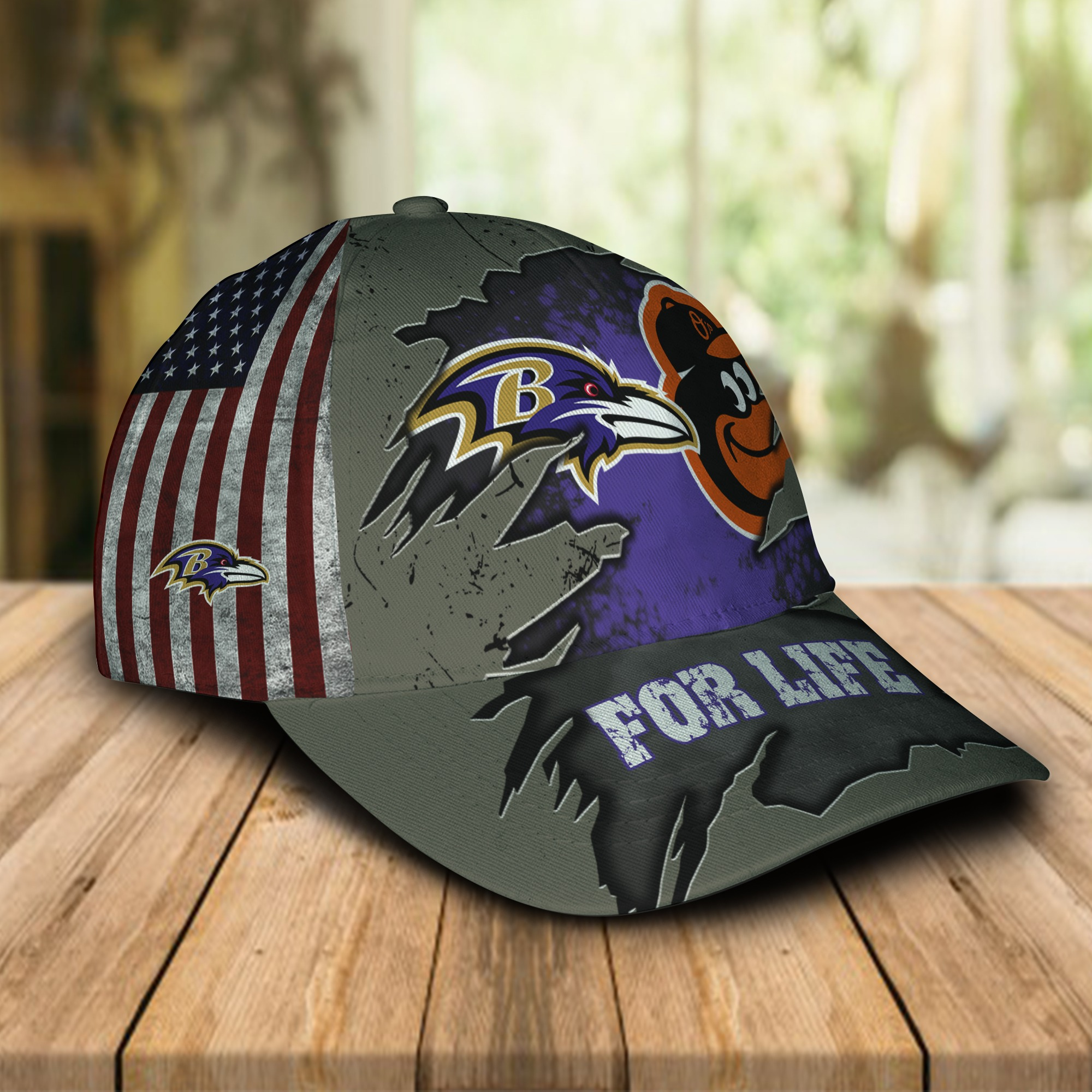 Baltimore ravens and baltimore orioles for life cap 1