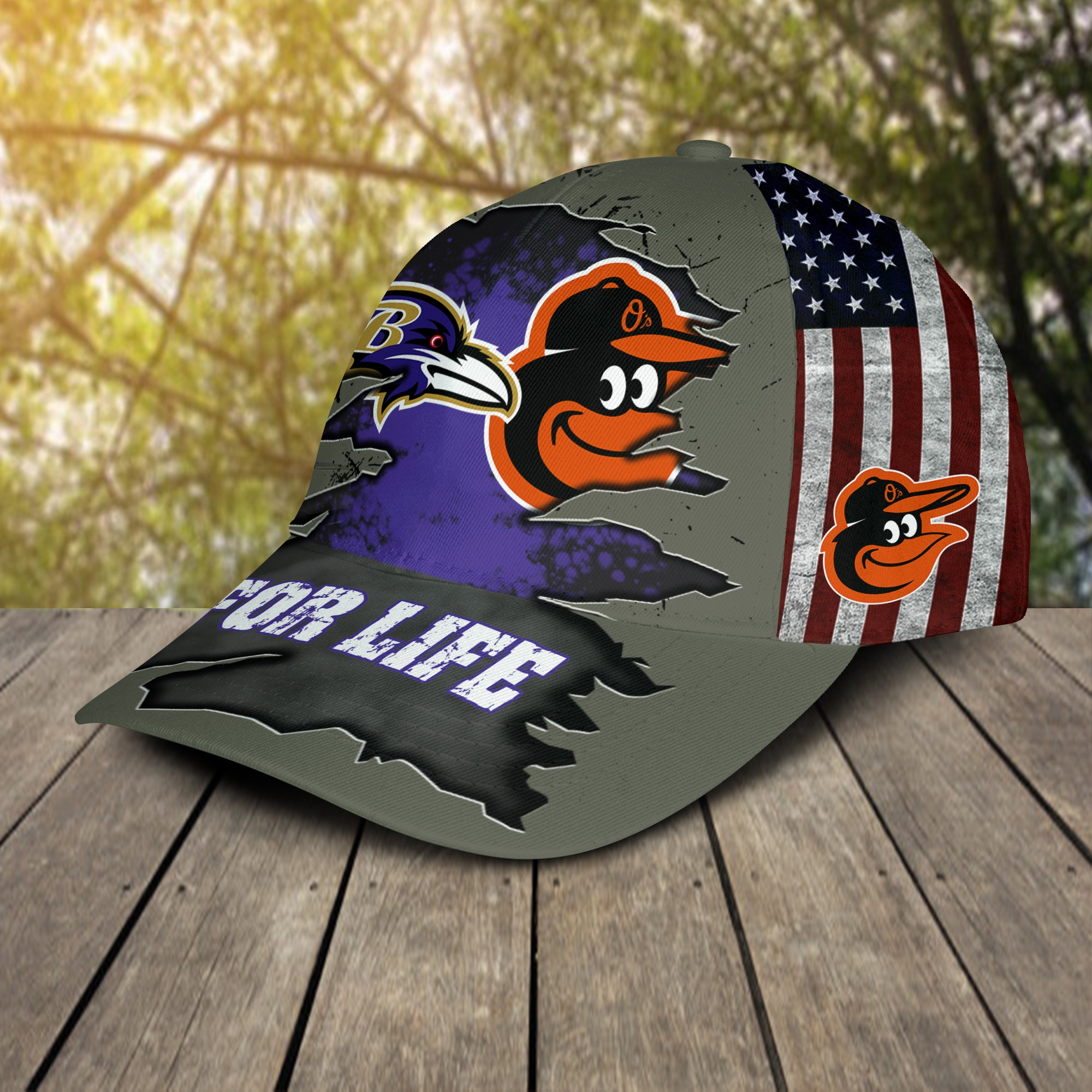 Baltimore ravens and baltimore orioles for life cap 2