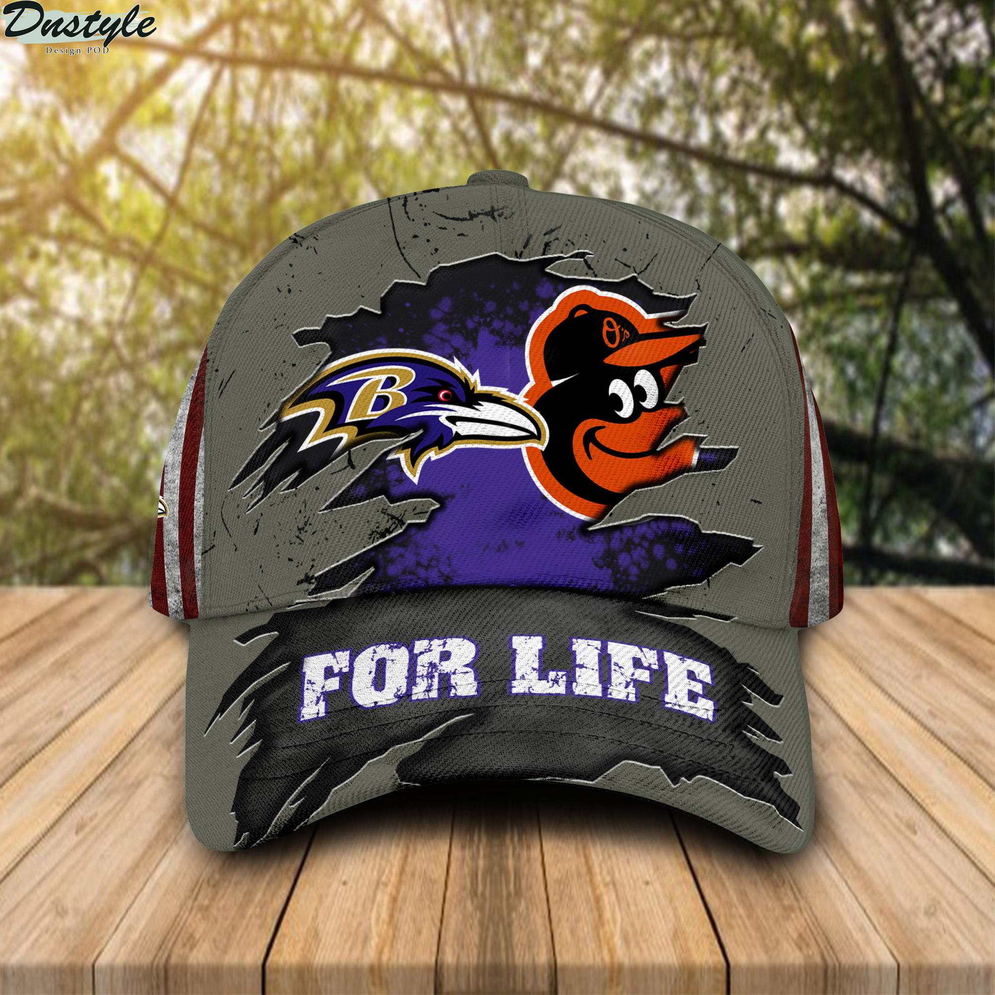 Baltimore ravens and baltimore orioles for life cap
