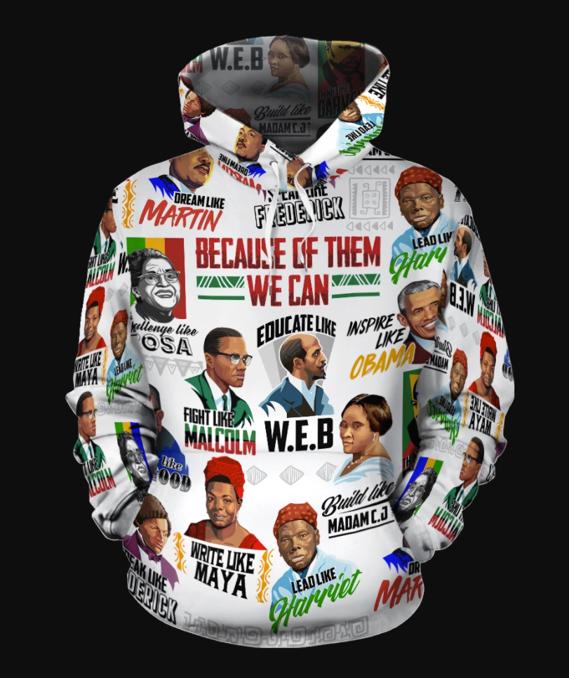 Because of them we can all over printed 3D hoodie