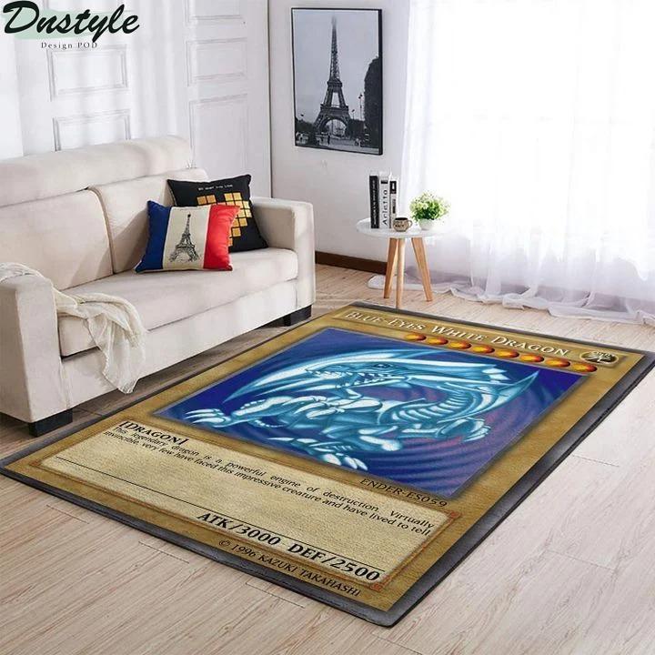 Blue-eyes white dragon card rug