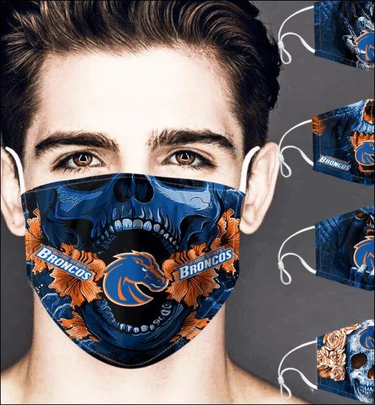 Boise State Broncos skull face mask