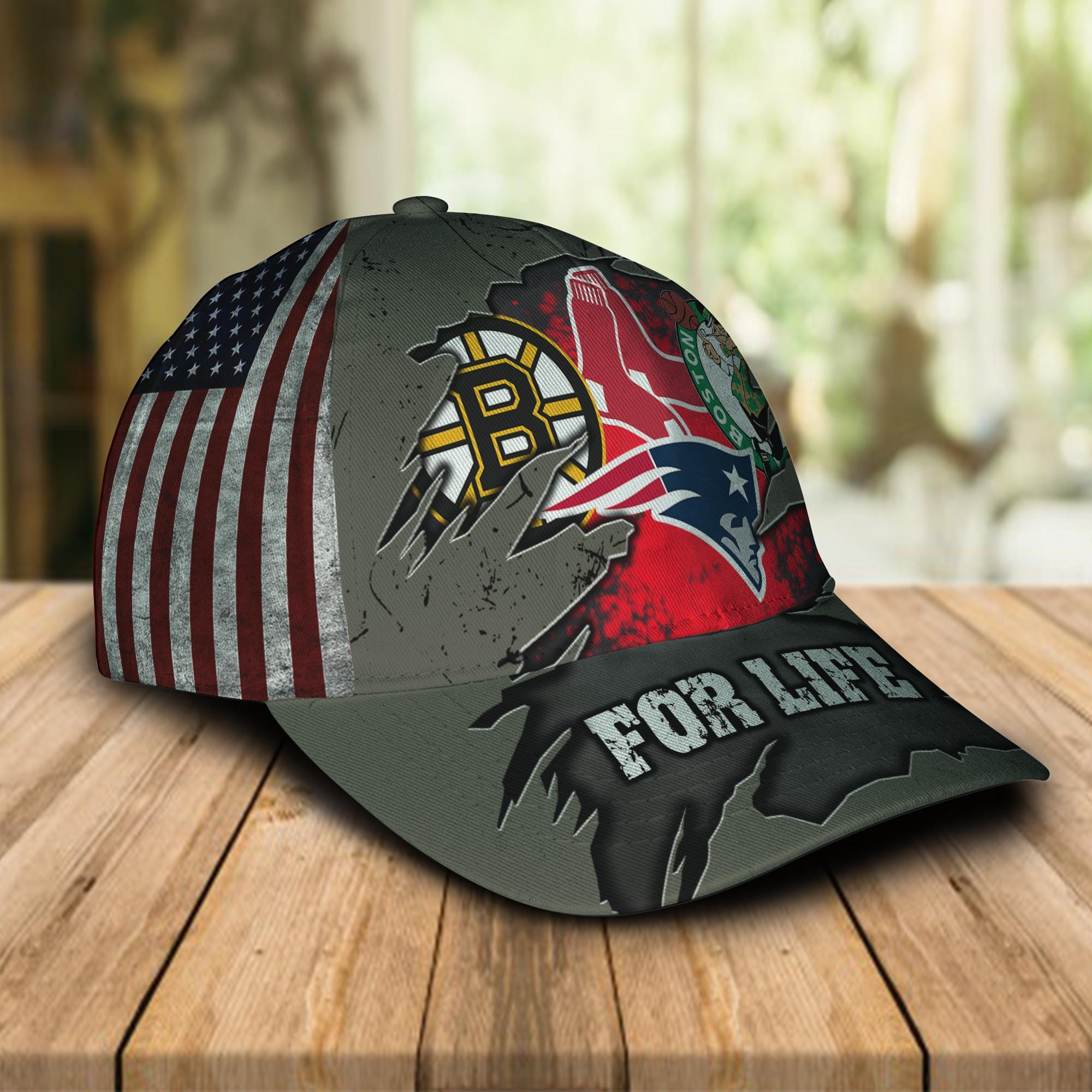 Boston celtics new england patriots boston bruins boston red sox for life cap 1