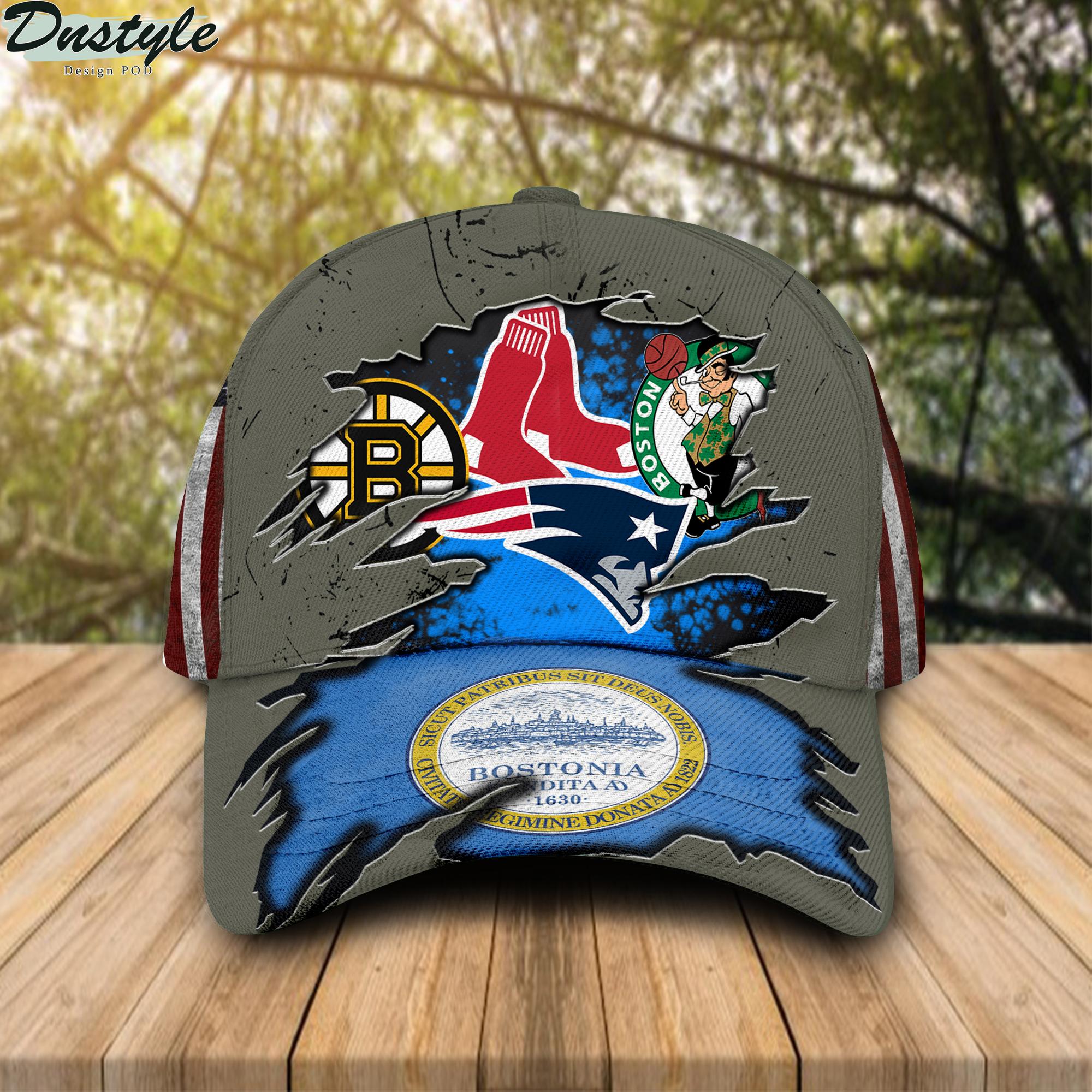 Bostonia Boston Celtics New England Patriots Boston Bruins Boston Red Sox Cap