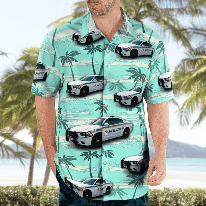 Brevard County Florida Sheriff Dodge Charger Hawaiian Shirt 1