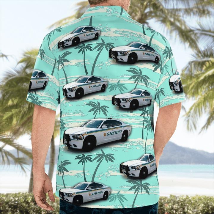 Brevard County Florida Sheriff Dodge Charger Hawaiian Shirt 2