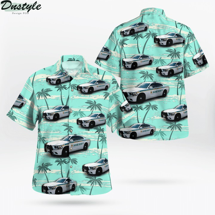 Brevard County Florida Sheriff Dodge Charger Hawaiian Shirt