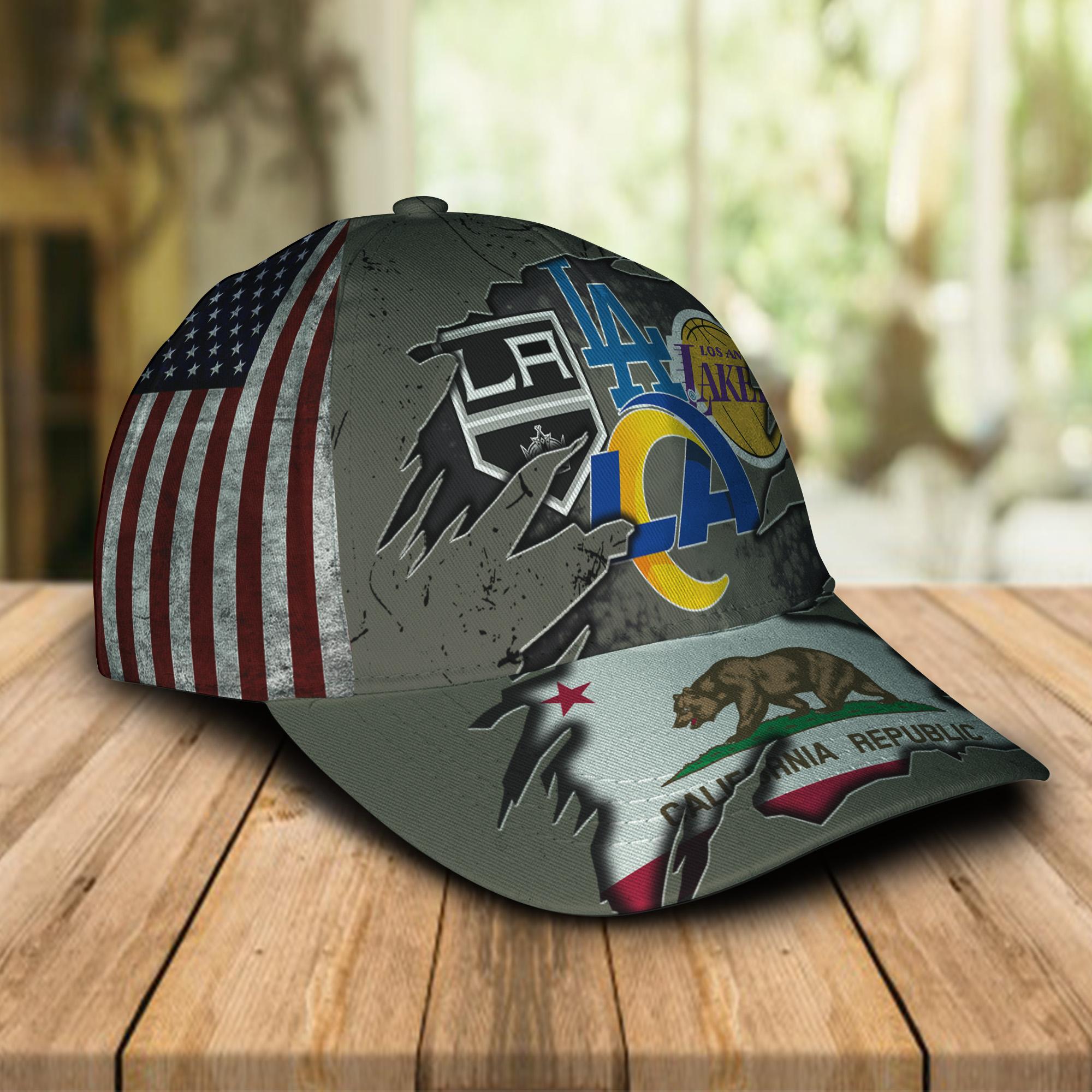 California republic Los Angeles Dodgers LA Kings LA Lakers LA Rams cap 1