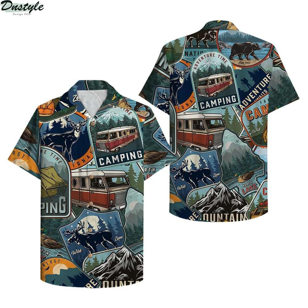 Camping Adventure Time Hawaiian Shirt