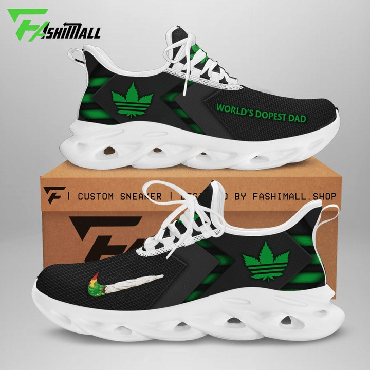 Cannabis x adidas world's dopest dad max soul shoes sneaker 1