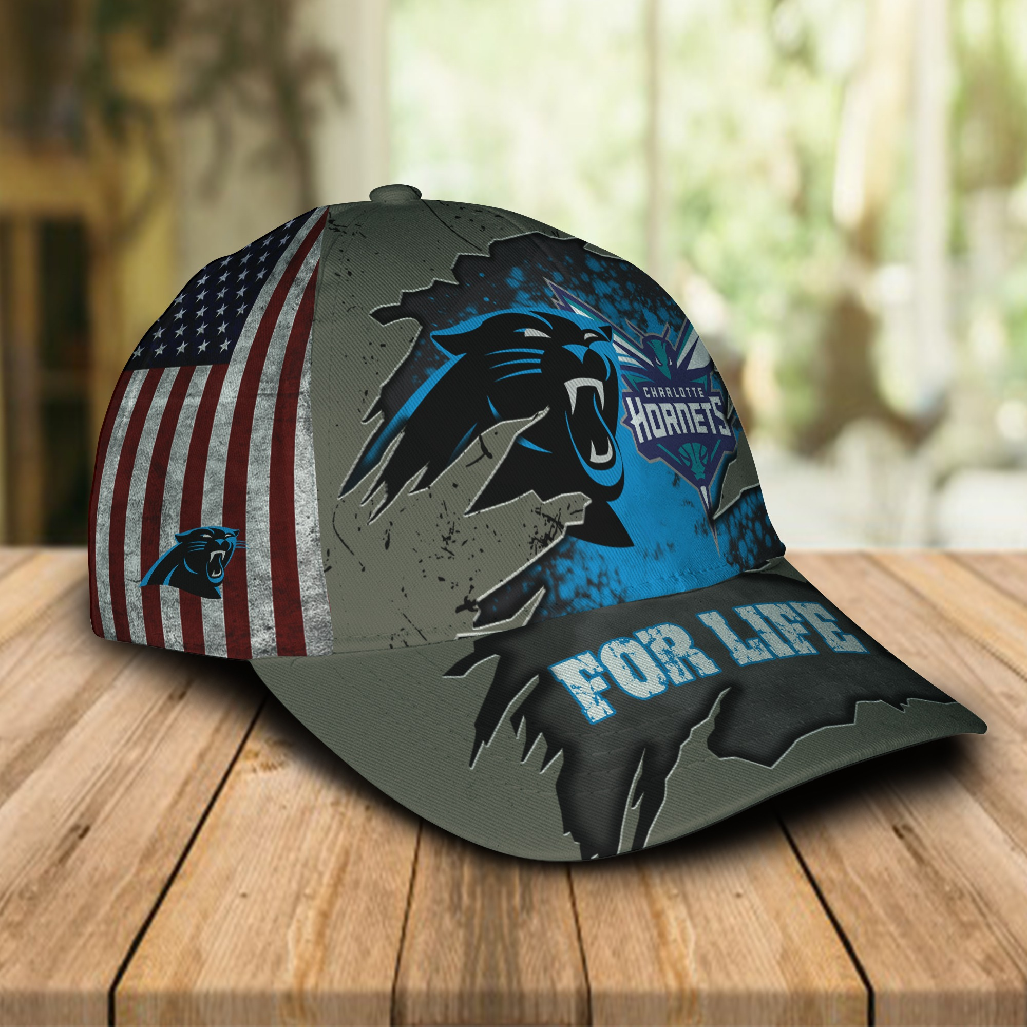 Carolina Panthers Charlotte Hornets for life cap 1