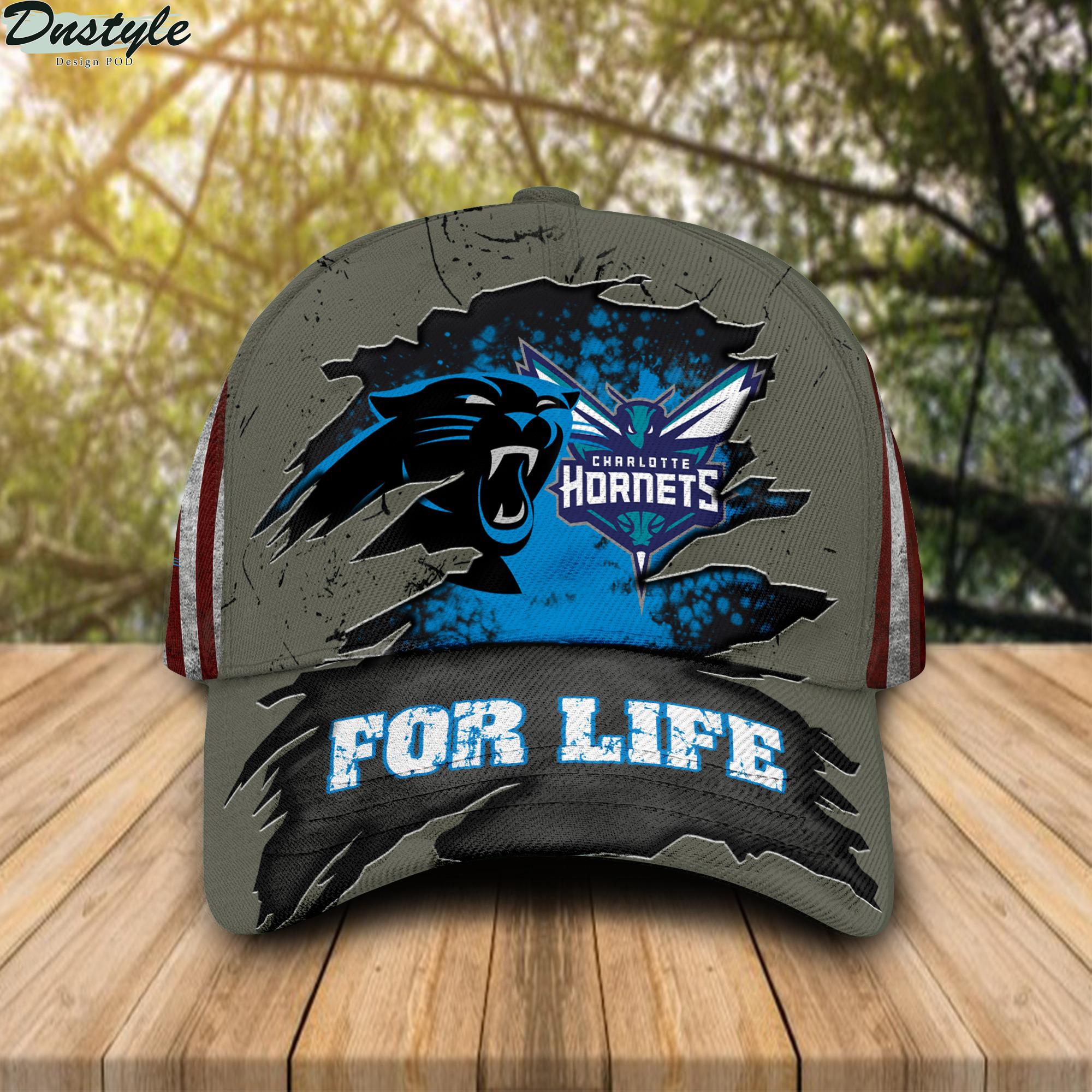Carolina Panthers Charlotte Hornets for life cap