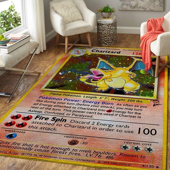 Charizard pokemon card rug 1