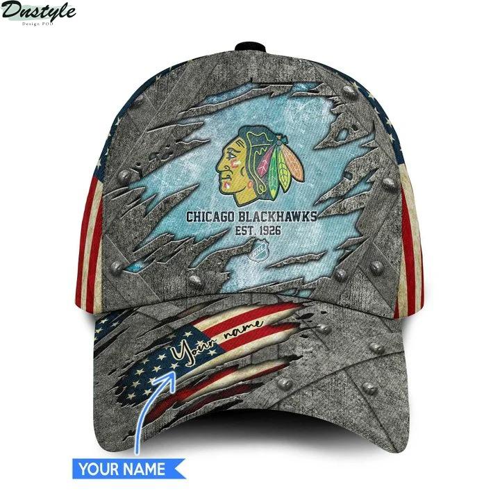 Chicago blackhawks NHL personalized classic cap