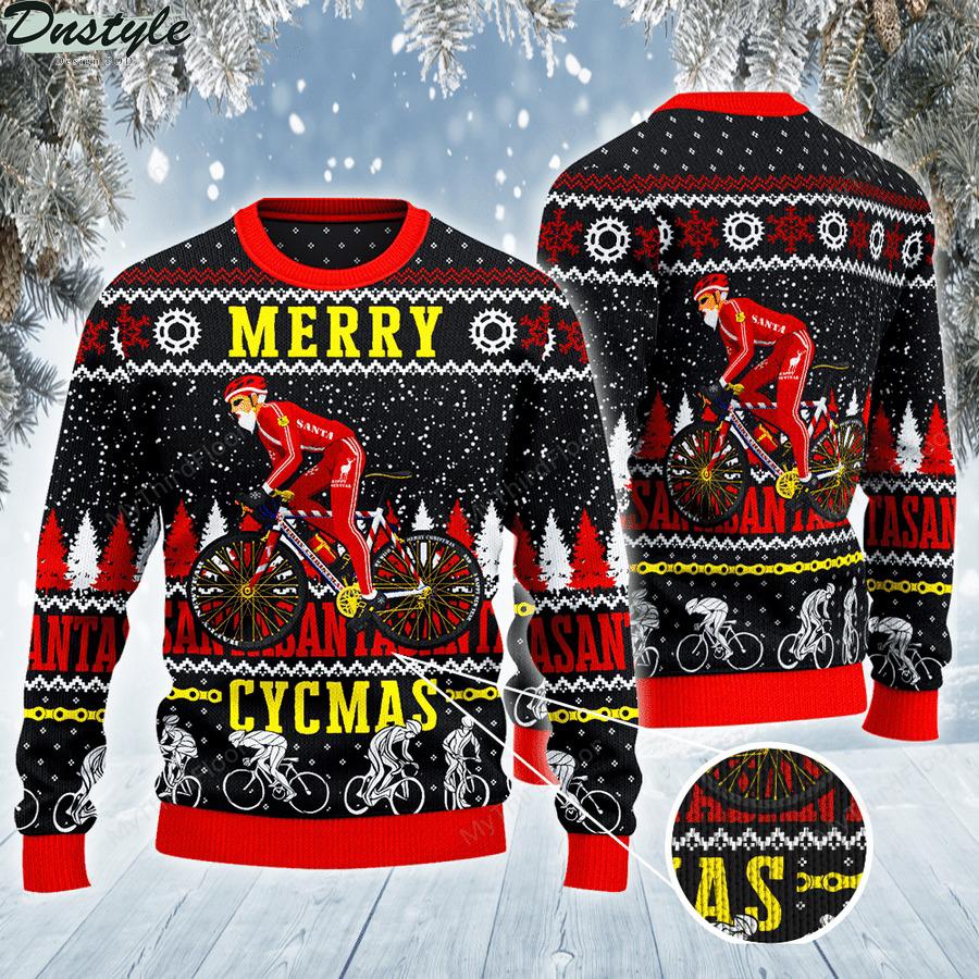Cycling Merry Cycmas Ugly Sweater