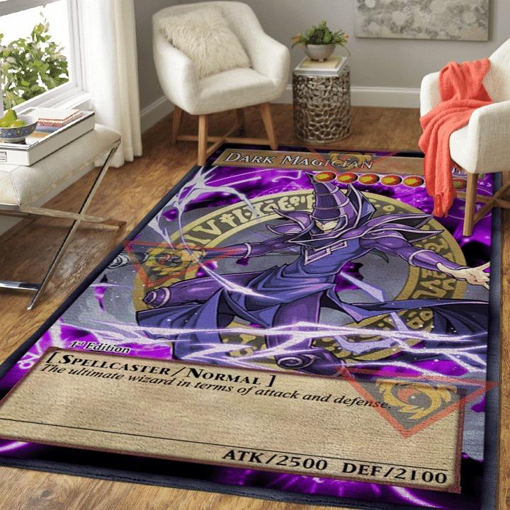 Dark magician yugioh card rug 1