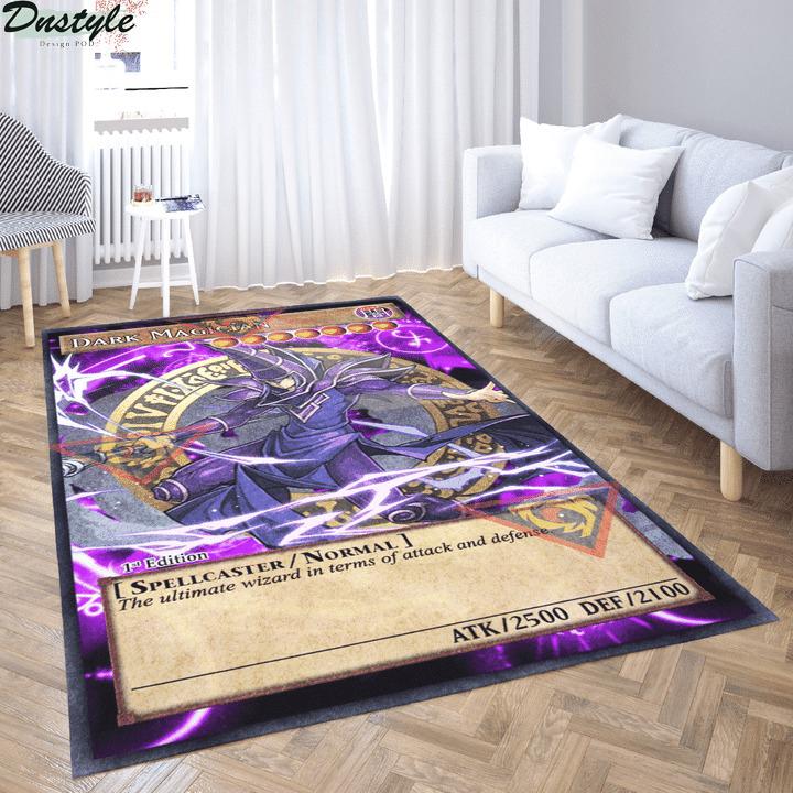 Dark magician yugioh card rug