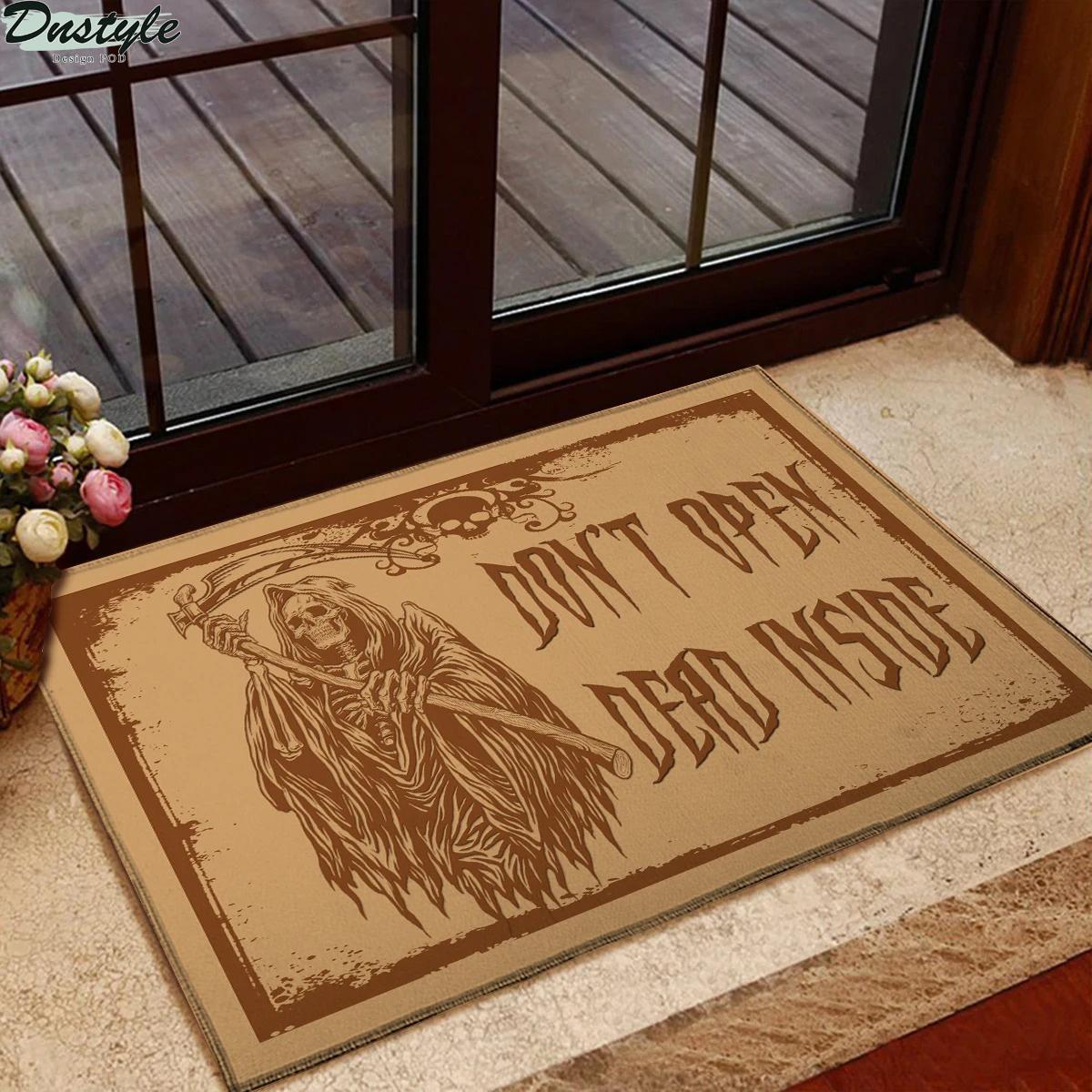 Death skeleton don't open dead inside doormat