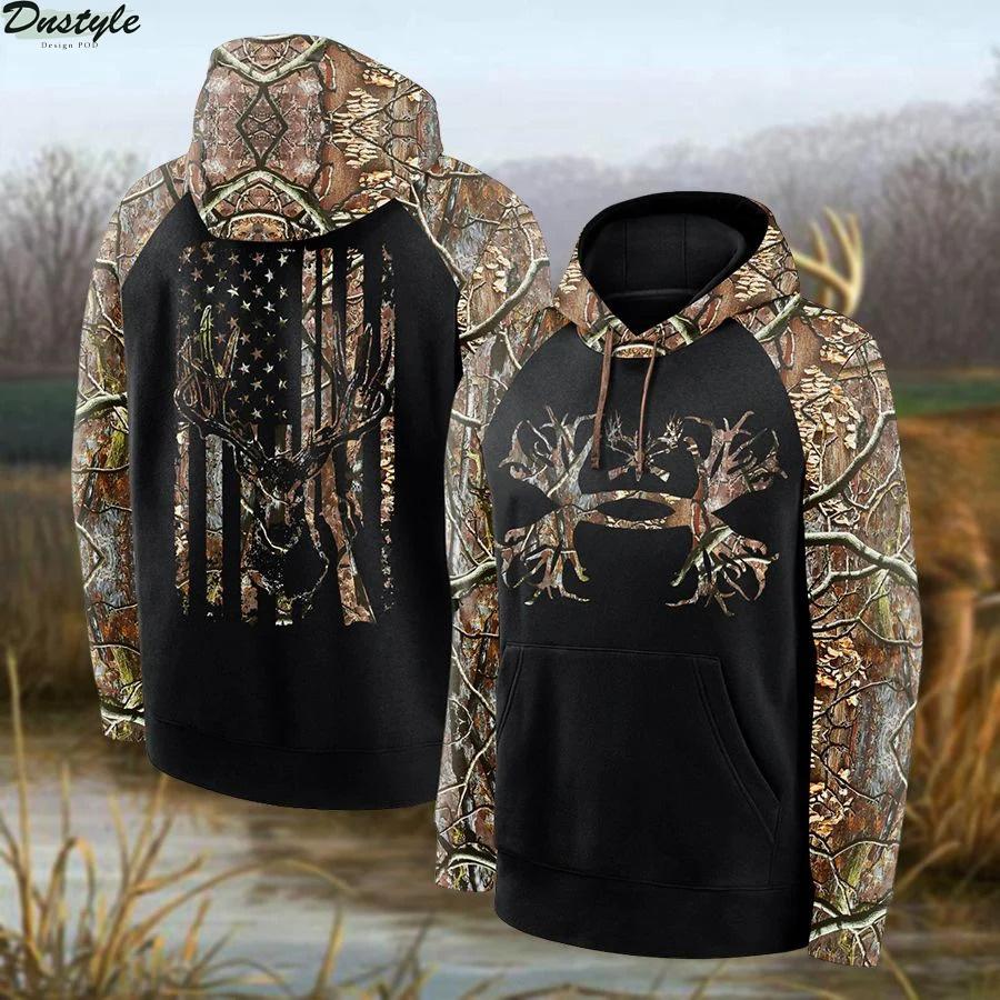 Deer Hunting Camo All Over Print Hoodie