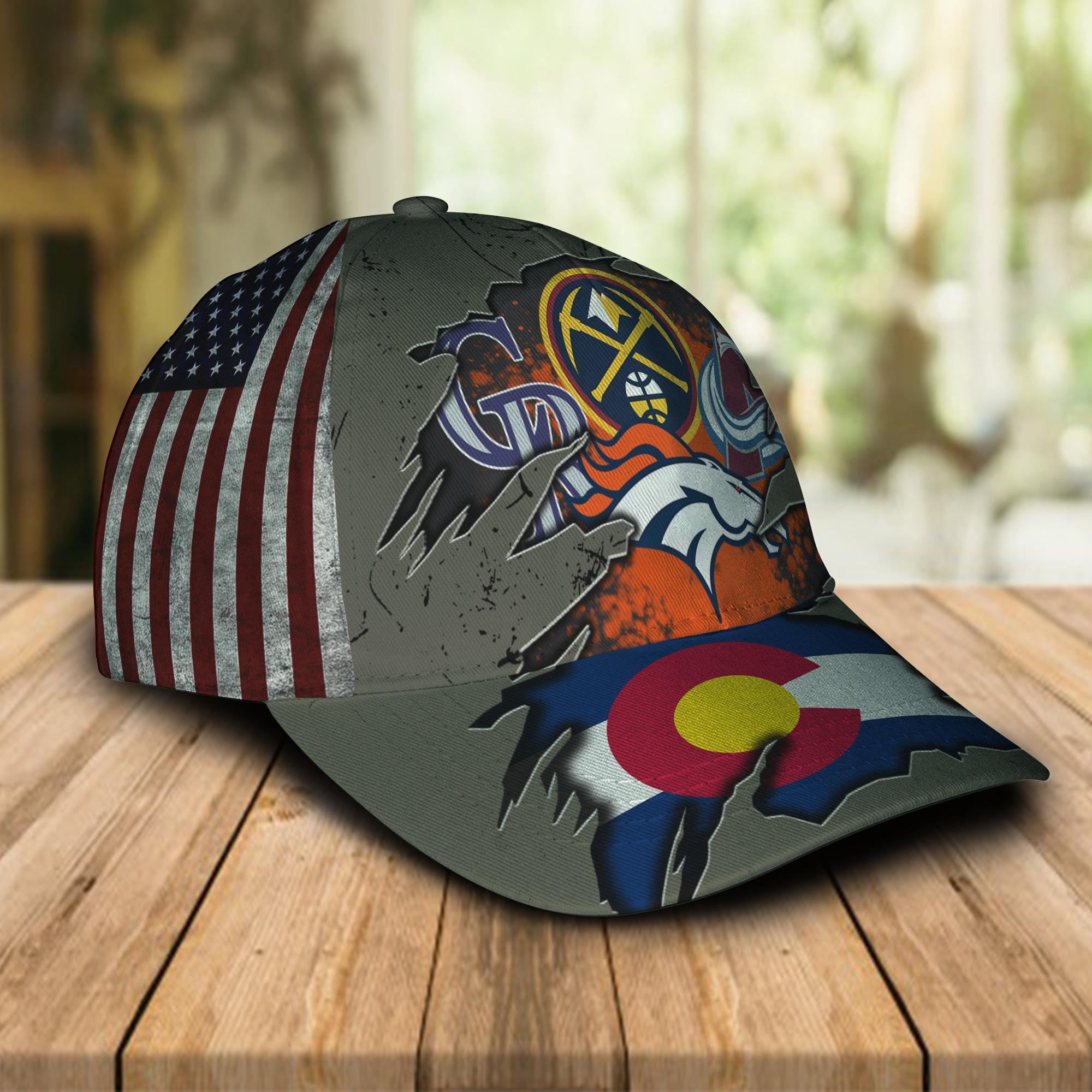 Denver broncos Denver Nuggets Colorado Rockies Colorado Avalanche Cap 1