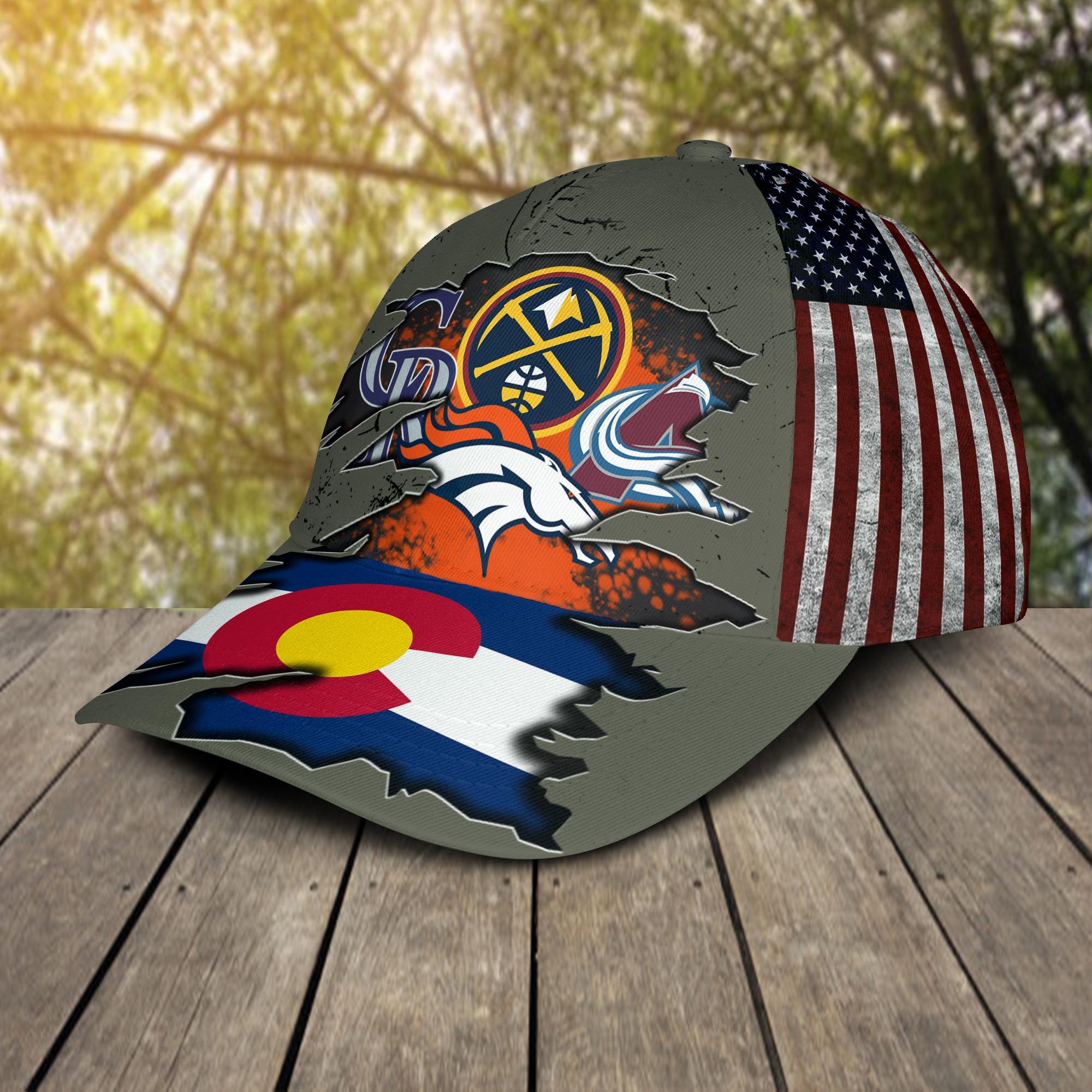 Denver broncos Denver Nuggets Colorado Rockies Colorado Avalanche Cap 2