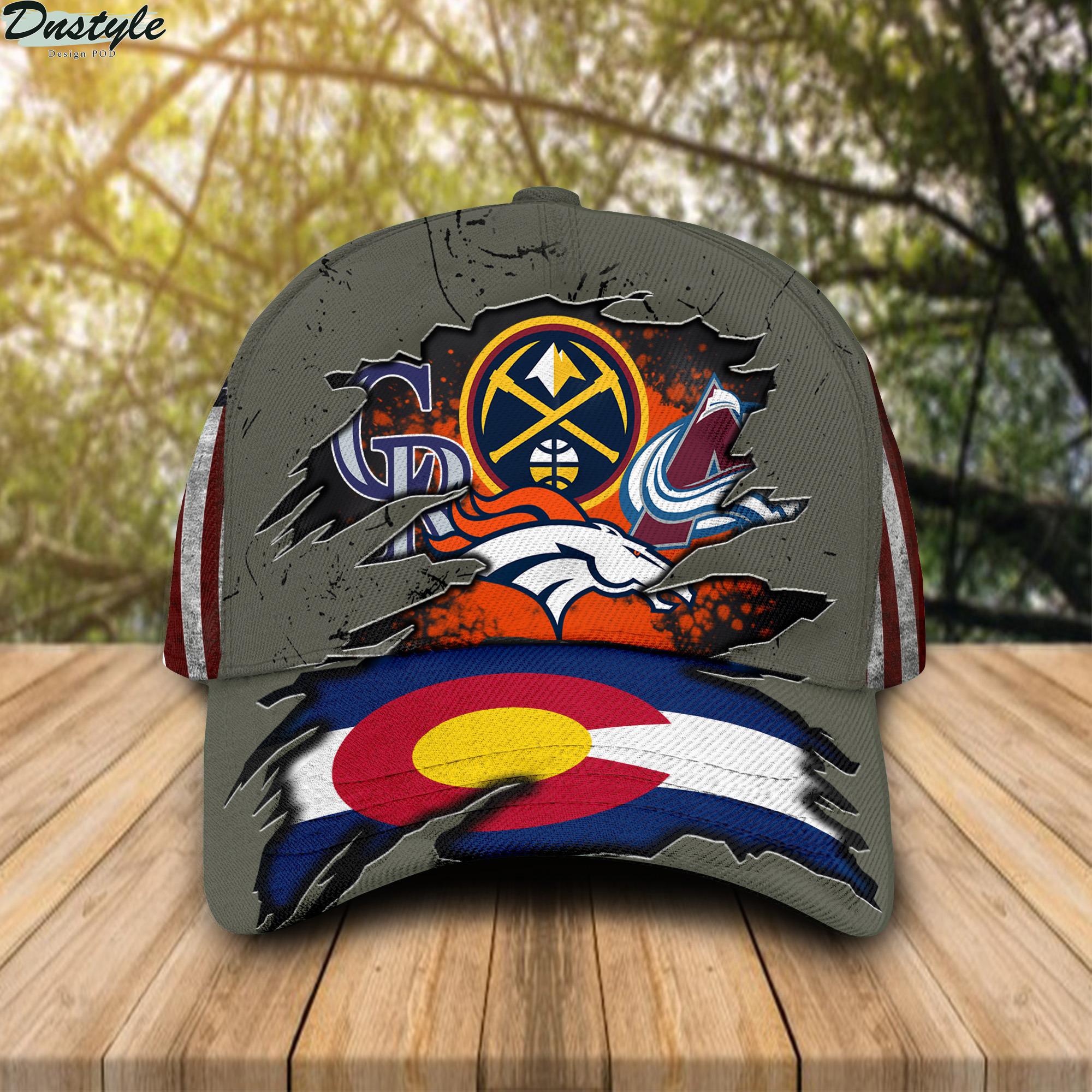 Denver broncos Denver Nuggets Colorado Rockies Colorado Avalanche Cap