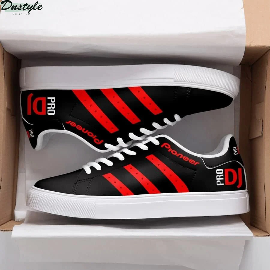 Dj pioneer red stan smith low top shoes