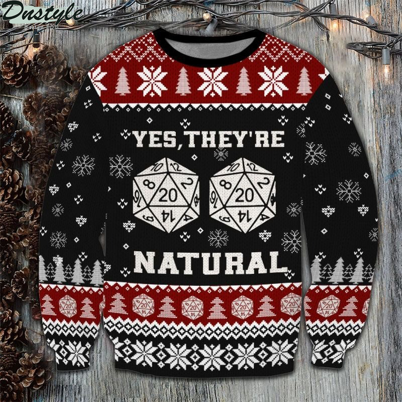 Dungeons & Dragons D20 Dice yes they're natural ugly sweater