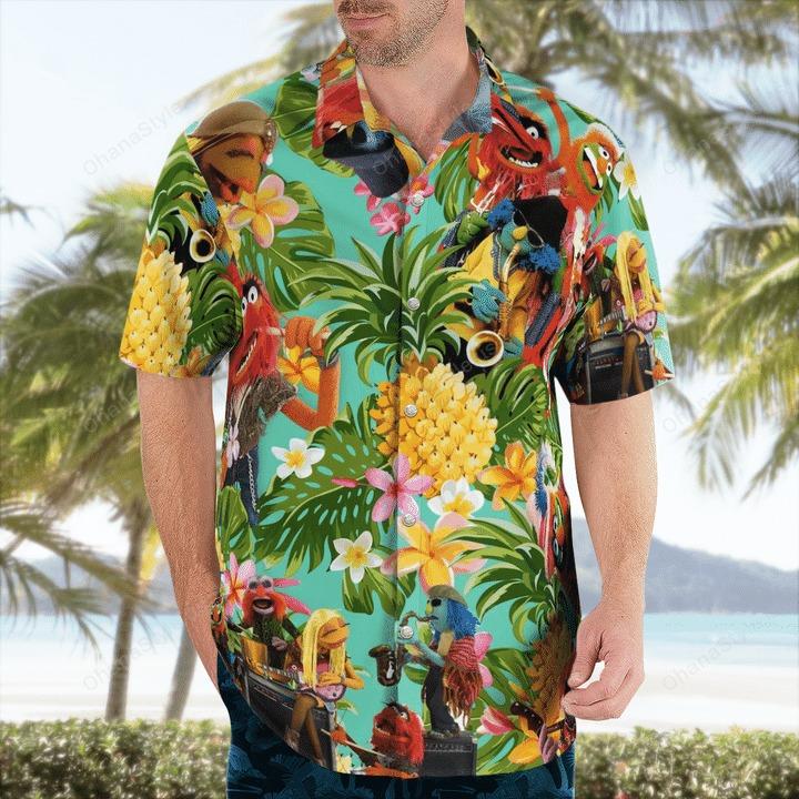 Electric mayhem tropical hawaiian shirt 1
