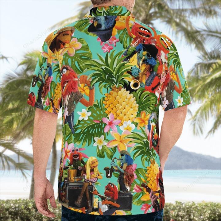 Electric mayhem tropical hawaiian shirt 2