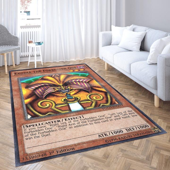Exodia the forbidden one card rug 1