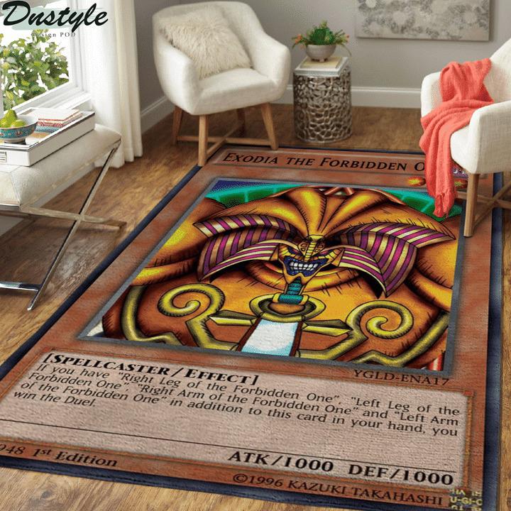 Exodia the forbidden one card rug