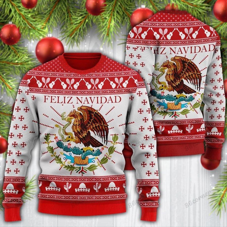 Feliz navidad mexican wool sweater 1