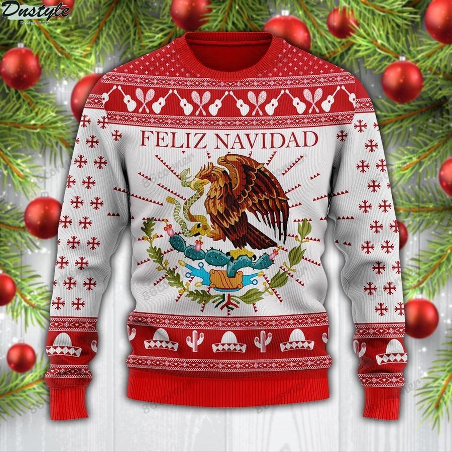 Feliz navidad mexican wool sweater