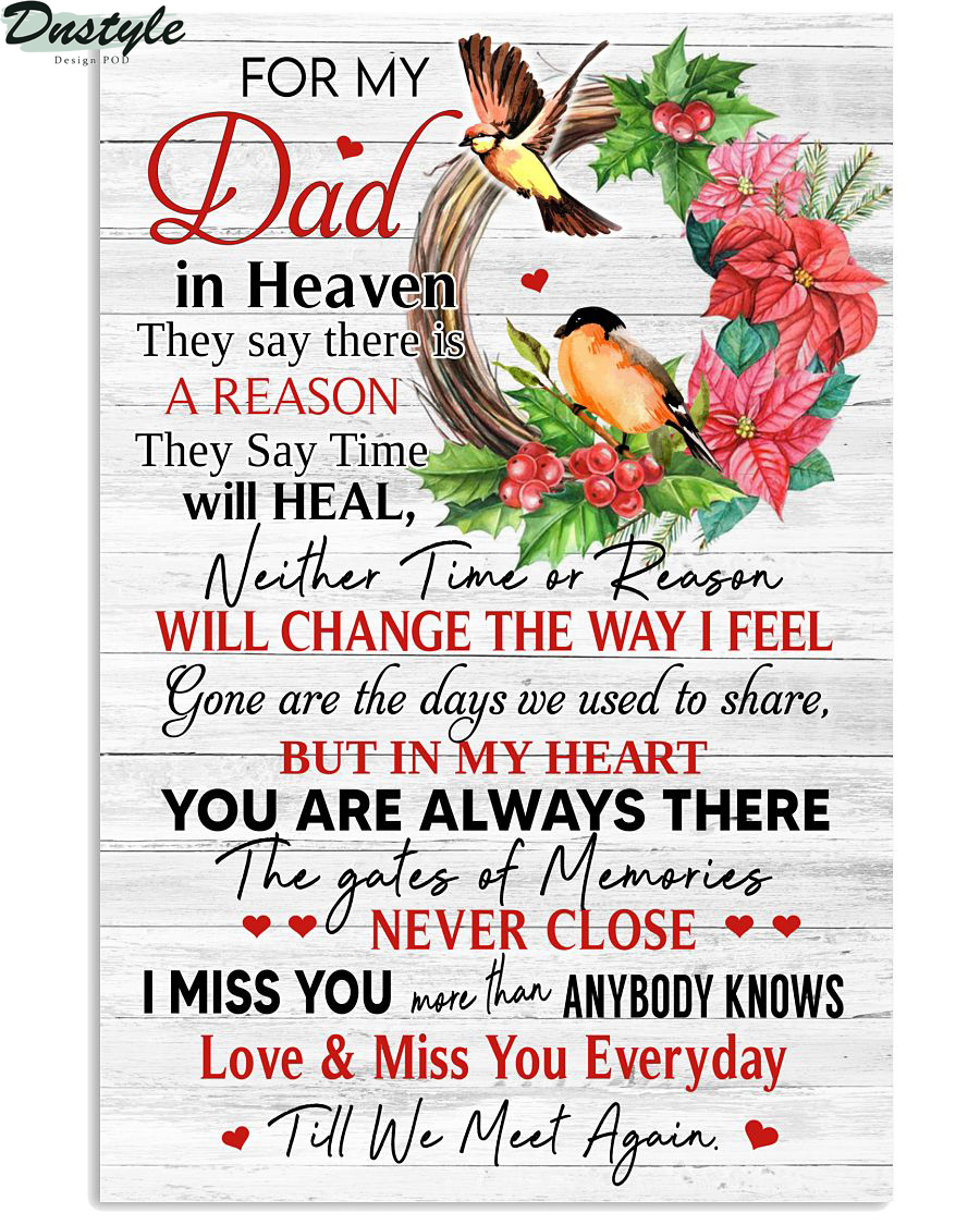 For My Dad In Heaven Vertical Poster