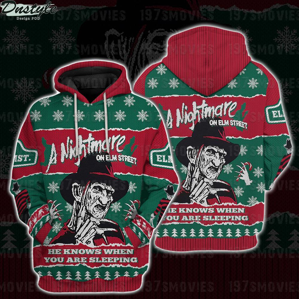 Freddy Krueger a nightmare on elm street horror movie 3d printed hoodie