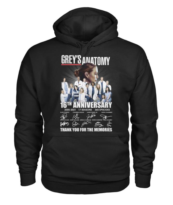Grey's Anatomy 16th anniversary hoodie