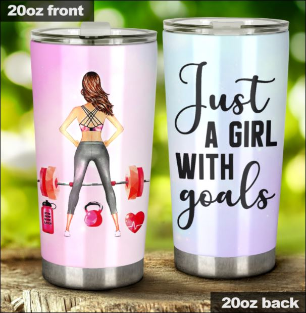 Gymer just a girl with goals tumbler