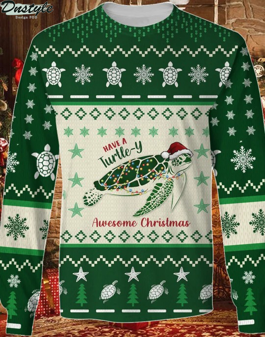Have A Turtle-Y Awesome Christmas Ugly Sweater