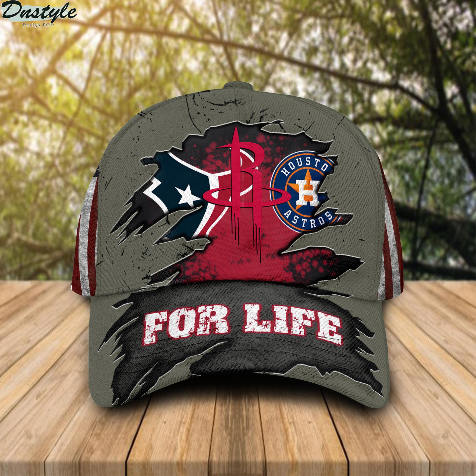 Houston texans houston astros houston rockets for life cap