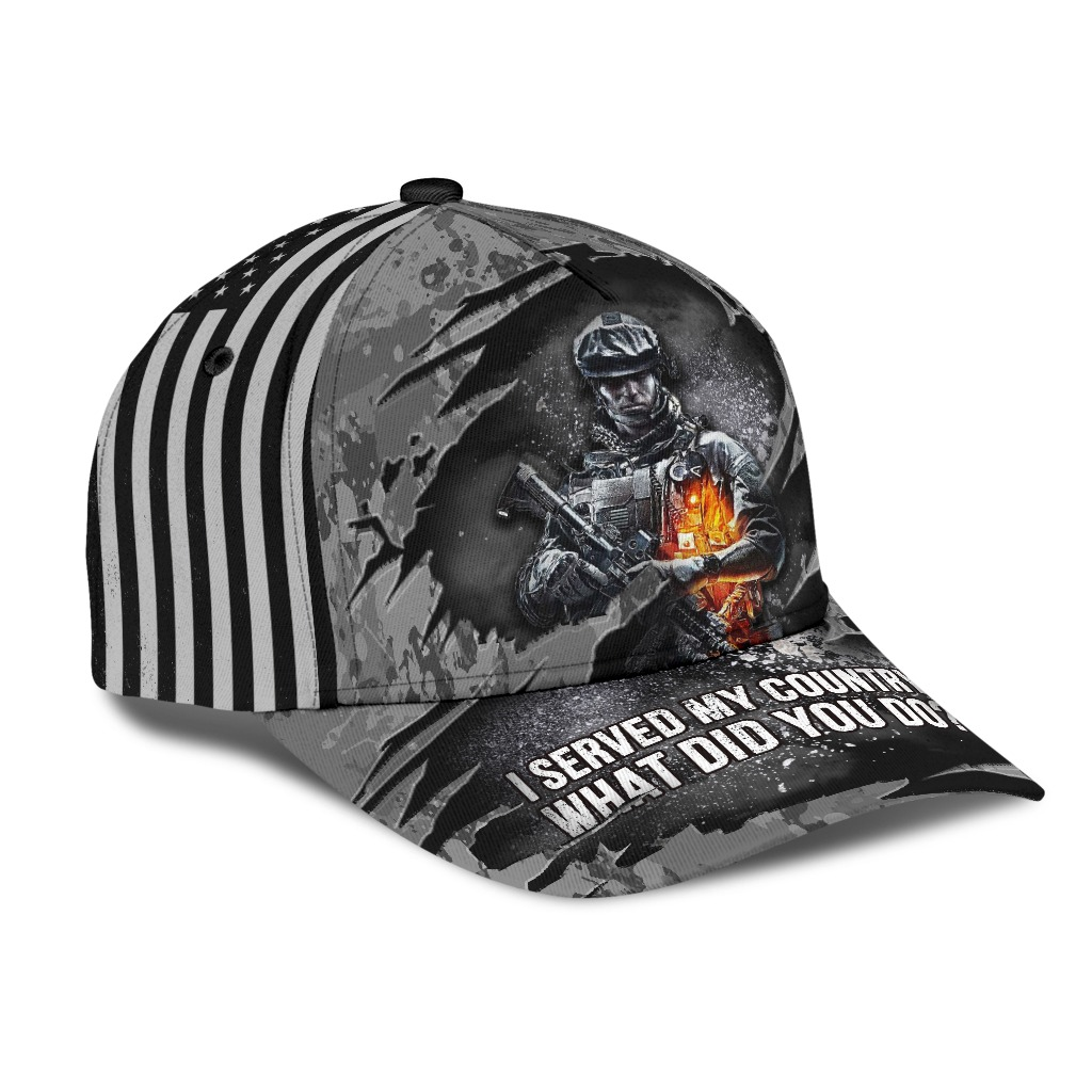 I served my country what did you do veteran hat 1