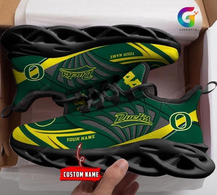 Oregon ducks NCAA personalized max soul shoes 1