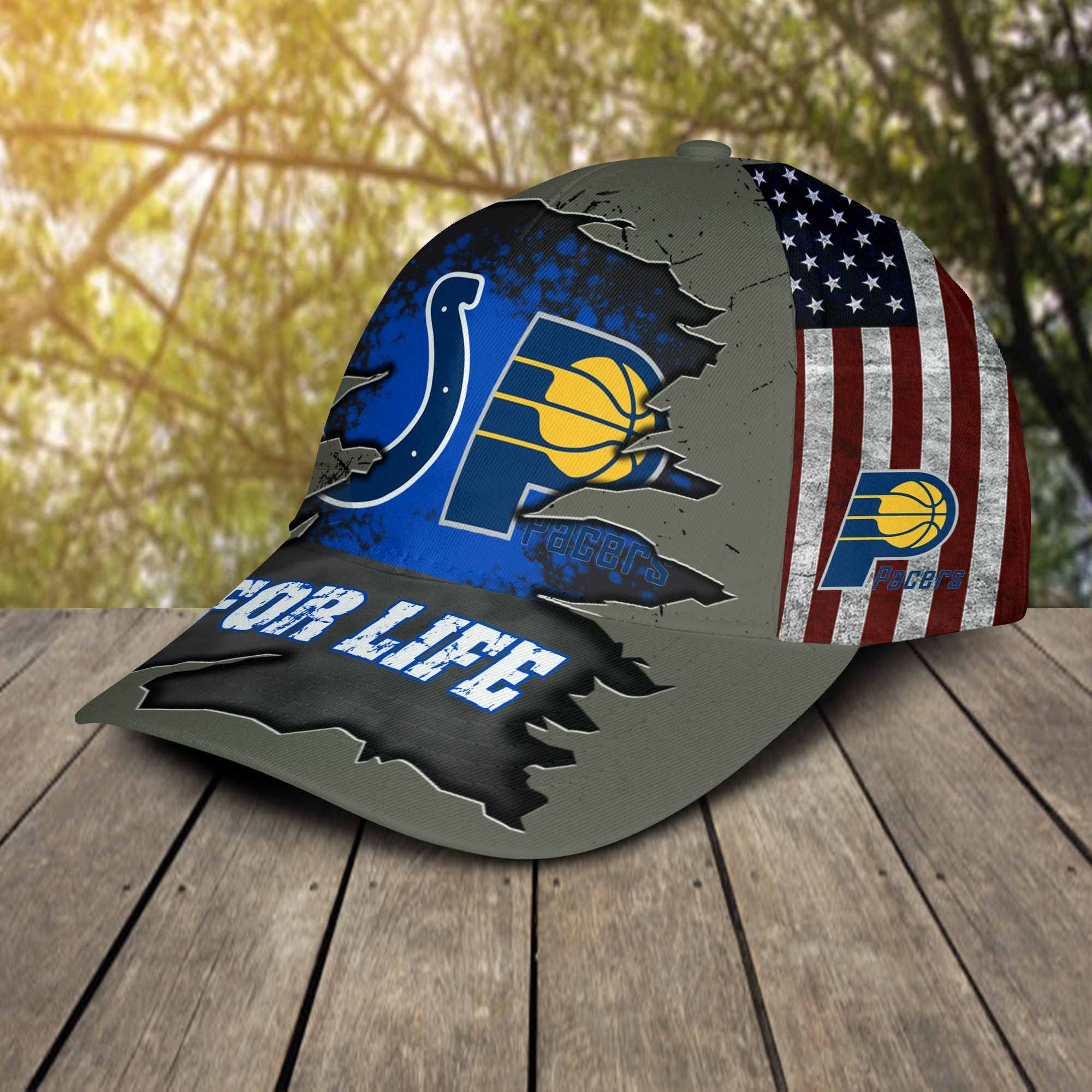 Indianapolis Colts Indiana Pacers For Life Cap 2
