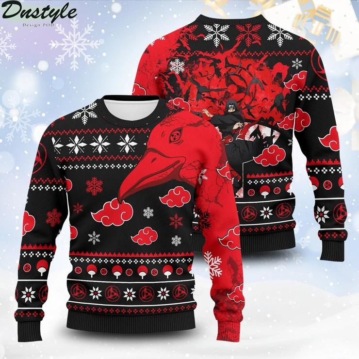 Itachi Summoning Crow Unisex Wool Ugly Sweater