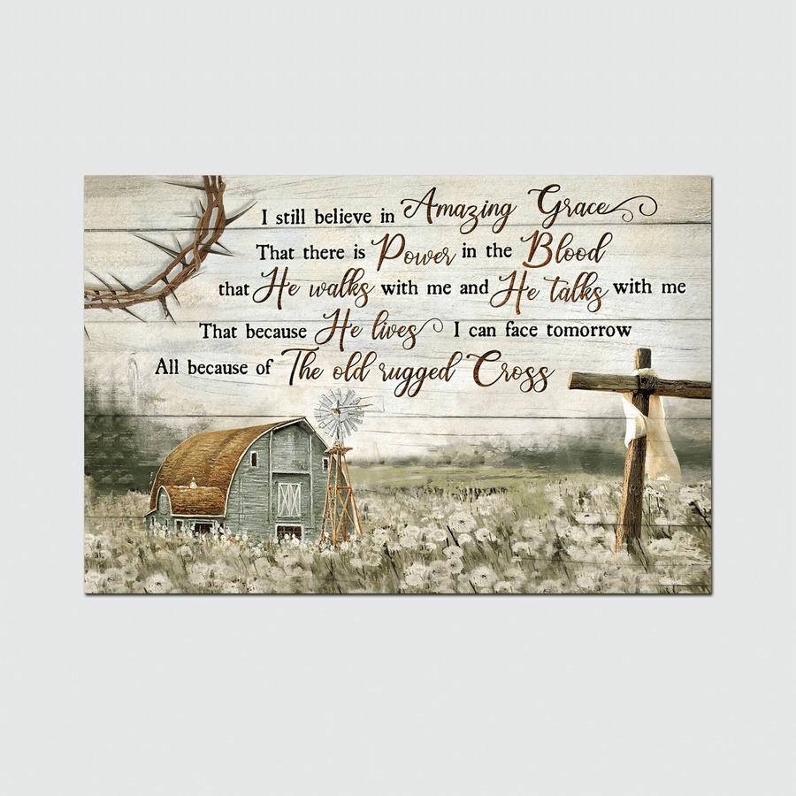 Jesus I still believe in amazing grace canvas poster 1