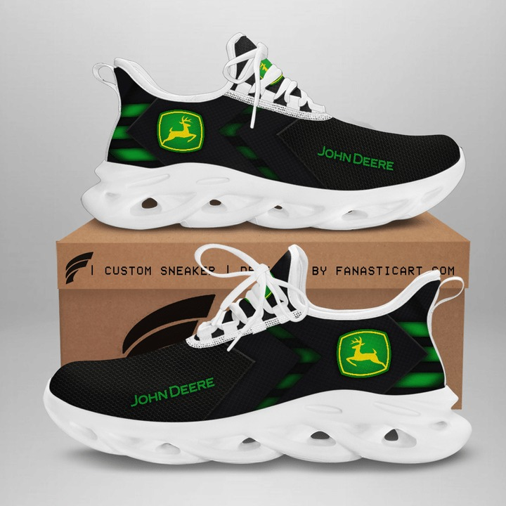 John deere black white clunky max soul shoes sneaker 2