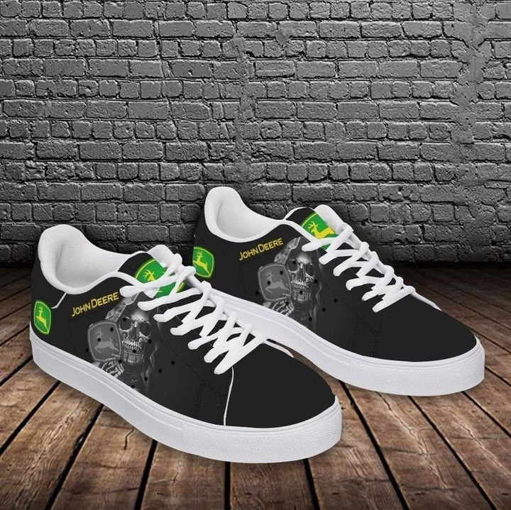 John deere skull black stan smith low top shoes 2